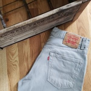 LEVI'S Men's 550 Gray RELAXED FIT Jeans Size 32x34